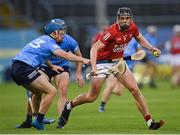31 July 2021; Darragh Fitzgibbon of Cork in action against Oisín O'Rorke of Dublin during the GAA Hurling All-Ireland Senior Championship Quarter-Final match between Dublin and Cork at Semple Stadium in Thurles, Tipperary. Photo by Piaras Ó Mídheach/Sportsfile