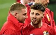 31 July 2021; Ali Price, right, and Finn Russell of British and Irish Lions after the second test of the British and Irish Lions tour match between South Africa and British and Irish Lions at Cape Town Stadium in Cape Town, South Africa. Photo by Ashley Vlotman/Sportsfile