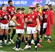 31 July 2021; Owen Farrell, right, and Dan Biggar of British and Irish Lions after the second test of the British and Irish Lions tour match between South Africa and British and Irish Lions at Cape Town Stadium in Cape Town, South Africa. Photo by Ashley Vlotman/Sportsfile