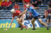 31 July 2021; Patrick Horgan of Cork in action against Paddy Smyth of Dublin during the GAA Hurling All-Ireland Senior Championship Quarter-Final match between Dublin and Cork at Semple Stadium in Thurles, Tipperary. Photo by Piaras Ó Mídheach/Sportsfile