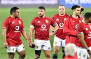31 July 2021; Dejected Mako Vunapola, left, and Rory Sutherland of British and Irish Lions after the second test of the British and Irish Lions tour match between South Africa and British and Irish Lions at Cape Town Stadium in Cape Town, South Africa. Photo by Ashley Vlotman/Sportsfile