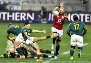31 July 2021; Herschel Jantjies of South Africa in action against Alun Wyn Jones of the British and Irish Lions during the second test of the British and Irish Lions tour match between South Africa and British and Irish Lions at Cape Town Stadium in Cape Town, South Africa. Photo by Ashley Vlotman/Sportsfile