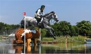 1 August 2021; Austin O'Connor of Ireland riding Colorado Blue during the eventing cross country team and individual session at the Sea Forest Cross-Country Course during the 2020 Tokyo Summer Olympic Games in Tokyo, Japan. Photo by Stephen McCarthy/Sportsfile