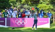 1 August 2021; Rory McIlroy of Ireland plays his tee shot on the 18th hole during round 4 of the men's individual stroke play at the Kasumigaseki Country Club during the 2020 Tokyo Summer Olympic Games in Kawagoe, Saitama, Japan. Photo by Ramsey Cardy/Sportsfile