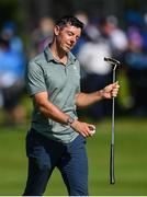 1 August 2021; Rory McIlroy of Ireland reacts after putting on the 18th green during round 4 of the men's individual stroke play at the Kasumigaseki Country Club during the 2020 Tokyo Summer Olympic Games in Kawagoe, Saitama, Japan. Photo by Ramsey Cardy/Sportsfile