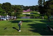 1 August 2021; Rory McIlroy of Ireland plays from the 10th tee box during the bronze medal playoff in round 4 of the men's individual stroke play at the Kasumigaseki Country Club during the 2020 Tokyo Summer Olympic Games in Kawagoe, Saitama, Japan. Photo by Ramsey Cardy/Sportsfile