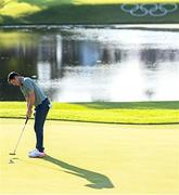 1 August 2021; Rory McIlroy of Ireland putts for par during the bronze medal play-off in round 4 of the men's individual stroke play at the Kasumigaseki Country Club during the 2020 Tokyo Summer Olympic Games in Kawagoe, Saitama, Japan. Photo by Ramsey Cardy/Sportsfile
