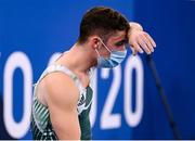 1 August 2021; The dejected Rhys McClenaghan of Ireland after the men's pommel horse final at the Ariake Gymnastics Centre during the 2020 Tokyo Summer Olympic Games in Tokyo, Japan. Photo by Stephen McCarthy/Sportsfile