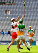 1 August 2021; Darragh McCloskey of Derry in action against John Murphy of Offaly during the Leinster GAA Football Senior Championship Final match between Dublin and Kildare at Croke Park in Dublin. Photo by Ray McManus/Sportsfile
