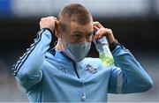 1 August 2021; Con O'Callaghan of Dublin puts on his face mask before returning to the dressing room before the Leinster GAA Football Senior Championship Final match between Dublin and Kildare at Croke Park in Dublin. Photo by Harry Murphy/Sportsfile