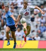 1 August 2021; Daniel Flynn of Kildare in action against Cormac Costello of Dublin during the Leinster GAA Football Senior Championship Final match between Dublin and Kildare at Croke Park in Dublin. Photo by Piaras Ó Mídheach/Sportsfile