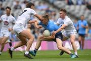 1 August 2021; Con O'Callaghan of Dublin is tackled by Shea Ryan, left, and Jimmy Hyland of Kildare during the Leinster GAA Football Senior Championship Final match between Dublin and Kildare at Croke Park in Dublin. Photo by Harry Murphy/Sportsfile
