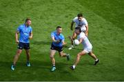 1 August 2021; Con O'Callaghan of Dublin in action against Shea Ryan of Kildare during the Leinster GAA Football Senior Championship Final match between Dublin and Kildare at Croke Park in Dublin. Photo by Daire Brennan/Sportsfile