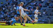 1 August 2021; Daniel Flynn of Kildare shoots to score a goal, in the 62nd minute, during the Leinster GAA Football Senior Championship Final match between Dublin and Kildare at Croke Park in Dublin. Photo by Ray McManus/Sportsfile