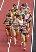 2 August 2021; Ciara Mageean of Ireland, second left, in action during round one of the women's 1500 metres at the Olympic Stadium on day ten of the 2020 Tokyo Summer Olympic Games in Tokyo, Japan. Photo by Ramsey Cardy/Sportsfile