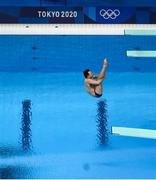 2 August 2021; Oliver Dingley of Ireland in action during the preliminary round of the men's 3m springboard at the Tokyo Aquatics Centre on day ten of the 2020 Tokyo Summer Olympic Games in Tokyo, Japan. Photo by Stephen McCarthy/Sportsfile