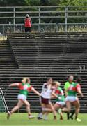 2 August 2021; A steward during the TG4 All-Ireland Senior Ladies Football Championship Quarter-Final match between Mayo and Galway at Elverys MacHale Park in Castlebar, Co Mayo. Photo by Piaras Ó Mídheach/Sportsfile
