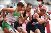 3 August 2021; Andrew Coscoran of Ireland at the start of his heat of the men's 1500 metres at the Olympic Stadium during the 2020 Tokyo Summer Olympic Games in Tokyo, Japan. Photo by Ramsey Cardy/Sportsfile