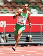 3 August 2021; Leon Reid of Ireland in action during the men's 200 metre heats at the Olympic Stadium during the 2020 Tokyo Summer Olympic Games in Tokyo, Japan. Photo by Ramsey Cardy/Sportsfile