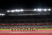 3 August 2021; A general view during the men's 5000m at the Olympic Stadium during the 2020 Tokyo Summer Olympic Games in Tokyo, Japan. Photo by Ramsey Cardy/Sportsfile