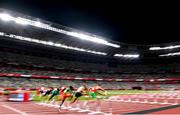 3 August 2021; A general view during the men's 110 hurdles at the Olympic Stadium during the 2020 Tokyo Summer Olympic Games in Tokyo, Japan. Photo by Ramsey Cardy/Sportsfile