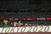 3 August 2021; Grant Holloway of the United States, 9, during the men's 110m hurdles at the Olympic Stadium during the 2020 Tokyo Summer Olympic Games in Tokyo, Japan. Photo by Ramsey Cardy/Sportsfile