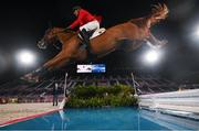 3 August 2021; Andre Thieme of Germany riding DSP Chakaria during the jumping individual qualifier at the Equestrian Park during the 2020 Tokyo Summer Olympic Games in Tokyo, Japan. Photo by Stephen McCarthy/Sportsfile
