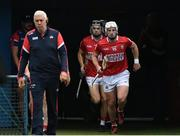 31 July 2021; Cork captain Patrick Horgan leads his team-mates to the pitch before the GAA Hurling All-Ireland Senior Championship Quarter-Final match between Dublin and Cork at Semple Stadium in Thurles, Tipperary. Photo by Piaras Ó Mídheach/Sportsfile