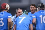 31 July 2021; Dublin manager Mattie Kenny talks to his players during the GAA Hurling All-Ireland Senior Championship Quarter-Final match between Dublin and Cork at Semple Stadium in Thurles, Tipperary. Photo by David Fitzgerald/Sportsfile