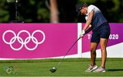 4 August 2021; Perrine Delacour of France drives off from the 18th tee box during round one of the women's individual stroke play at the Kasumigaseki Country Club during the 2020 Tokyo Summer Olympic Games in Kawagoe, Saitama, Japan. Photo by Brendan Moran/Sportsfile
