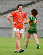 1 August 2021; Tiarna Grimes of Armagh dejected after the TG4 Ladies Football All-Ireland Championship Quarter-Final match between Armagh and Meath at St Tiernach's Park in Clones, Monaghan. Photo by Sam Barnes/Sportsfile