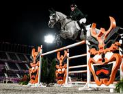 4 August 2021; Cian O'Connor of Ireland riding Kilkenny during the jumping individual final at the Equestrian Park during the 2020 Tokyo Summer Olympic Games in Tokyo, Japan. Photo by Stephen McCarthy/Sportsfile