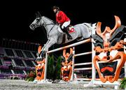 4 August 2021; Martin Fuchs of Switzerland riding Clooney 51 during the jumping individual final at the Equestrian Park during the 2020 Tokyo Summer Olympic Games in Tokyo, Japan. Photo by Stephen McCarthy/Sportsfile