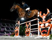 4 August 2021; Malin Baryard-Johnsson of Sweden riding Indiana during the jumping individual final at the Equestrian Park during the 2020 Tokyo Summer Olympic Games in Tokyo, Japan. Photo by Stephen McCarthy/Sportsfile