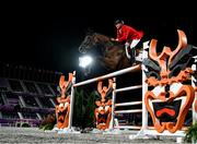 4 August 2021; Mario Deslauriers of Canada riding Bardolina 2 during the jumping individual final at the Equestrian Park during the 2020 Tokyo Summer Olympic Games in Tokyo, Japan. Photo by Stephen McCarthy/Sportsfile