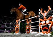 4 August 2021; Maikel van der Vleuten of Netherlands riding Beauville Z during the jumping individual final at the Equestrian Park during the 2020 Tokyo Summer Olympic Games in Tokyo, Japan. Photo by Stephen McCarthy/Sportsfile
