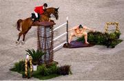 4 August 2021; Daisuke Fukushima of Japan riding Chayon during the jumping individual final at the Equestrian Park during the 2020 Tokyo Summer Olympic Games in Tokyo, Japan. Photo by Stephen McCarthy/Sportsfile