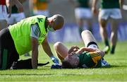 25 July 2021; Tommy Walsh of Kerry receives medical attention for an injury during the Munster GAA Football Senior Championship Final match between Kerry and Cork at Fitzgerald Stadium in Killarney, Kerry. Photo by Piaras Ó Mídheach/Sportsfile