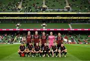 3 August 2021; The Bohemians team before the UEFA Europa Conference League third qualifying round first leg match between Bohemians and PAOK at Aviva Stadium in Dublin. Photo by Harry Murphy/Sportsfile