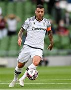 3 August 2021; Adelino Andre Vieira De Freitas of PAOK during the UEFA Europa Conference League third qualifying round first leg match between Bohemians and PAOK at Aviva Stadium in Dublin. Photo by Harry Murphy/Sportsfile