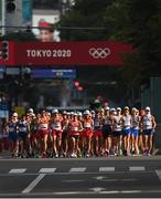 5 August 2021; A general view of the men's 20 kilometre walk final at Sapporo Odori Park on day 13 during the 2020 Tokyo Summer Olympic Games in Sapporo, Japan. Photo by Ramsey Cardy/Sportsfile