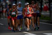 5 August 2021; Toshikazu Yamanishi of Japan leads the men's 20 kilometre walk final at Sapporo Odori Park on day 13 during the 2020 Tokyo Summer Olympic Games in Sapporo, Japan. Photo by Ramsey Cardy/Sportsfile
