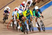 5 August 2021; Mark Downey of Ireland in action during the men's omnium tempo race at Izu velodrome on day 13 during the 2020 Tokyo Summer Olympic Games in Shizuoka, Japan. Photo by Alex Broadway/Sportsfile