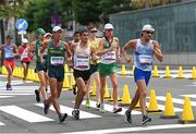 5 August 2021; David Kenny of Ireland, second right, in action during the men's 20 kilometre walk final at Sapporo Odori Park on day 13 during the 2020 Tokyo Summer Olympic Games in Sapporo, Japan. Photo by Ramsey Cardy/Sportsfile