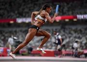 5 August 2021; Cynthia Bolingo of Belgium in action during round one of the women's 4 x 400 metre relay at the Olympic Stadium on day 13 during the 2020 Tokyo Summer Olympic Games in Tokyo, Japan. Photo by Stephen McCarthy/Sportsfile