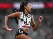 5 August 2021; Asteria Uzo Limai of Belarus in action during round one of the women's 4 x 400 metre relay at the Olympic Stadium on day 13 during the 2020 Tokyo Summer Olympic Games in Tokyo, Japan. Photo by Stephen McCarthy/Sportsfile