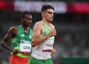 5 August 2021; Andrew Coscoran of Ireland in action during the semi-final of the men's 1500 metres at the Olympic Stadium on day 13 during the 2020 Tokyo Summer Olympic Games in Tokyo, Japan. Photo by Stephen McCarthy/Sportsfile