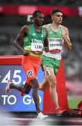 5 August 2021; Andrew Coscoran of Ireland, right, in action during the semi-final of the men's 1500 metres at the Olympic Stadium on day 13 during the 2020 Tokyo Summer Olympic Games in Tokyo, Japan. Photo by Stephen McCarthy/Sportsfile