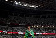 5 August 2021; Felipe dos Santos of Brazil reacts after competing in the men's decathlon at the Olympic Stadium on day 13 during the 2020 Tokyo Summer Olympic Games in Tokyo, Japan. Photo by Stephen McCarthy/Sportsfile