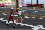 6 August 2021; Brendan Boyce of Ireland and Jose Leyver of Mexico, left, in action during the men's 50 kilometre walk final at Sapporo Odori Park on day 14 during the 2020 Tokyo Summer Olympic Games in Sapporo, Japan. Photo by Ramsey Cardy/Sportsfile